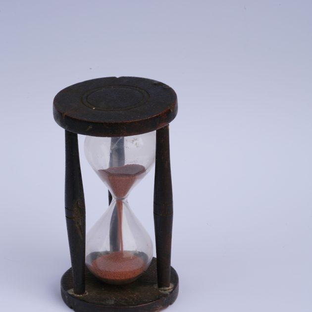 Smilšu pulkstenis, 19. gs. beigas.