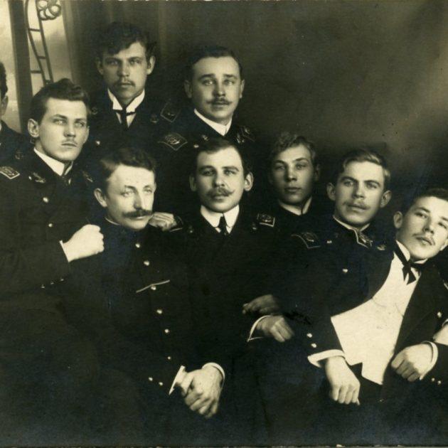 Ainažu jūrskolnieki, 1908. g.