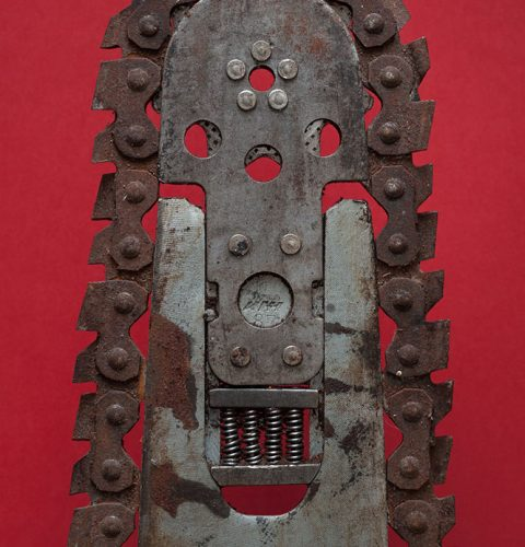 """Untitled (Chainsaw blade), from series """"Studio Kapsēde"""", 2013. Henrik Duncker."""