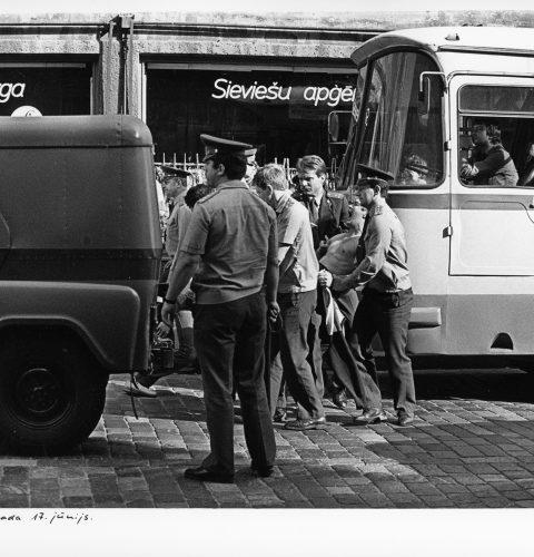 """A. Liepiņš, """"Rīga. 1989. gada 17. jūnijs."""", 1989. gads"""