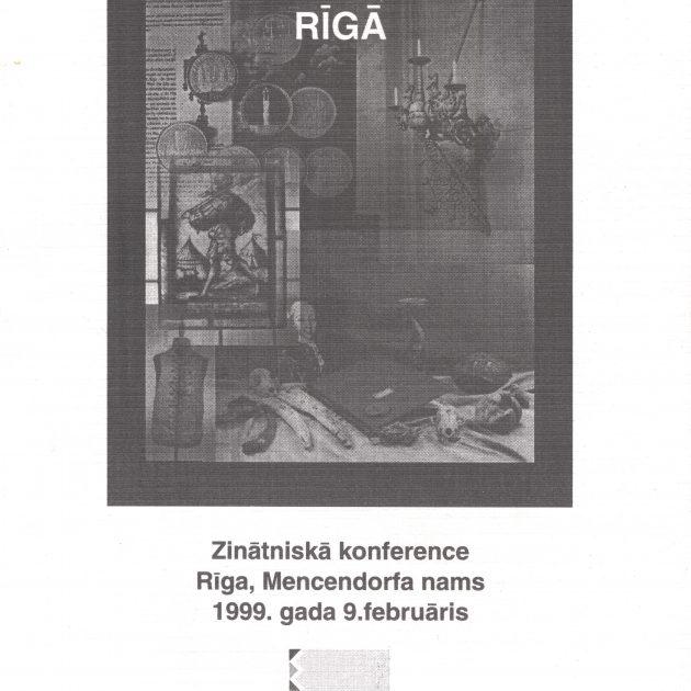 1999.gads Gadsimtu sadzīves kultūras tradīcijas Rīgā.
