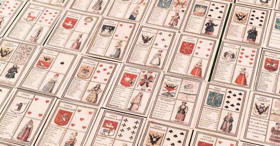 Spēļu kārtis ar ģeogrāfisko informāciju, 19.g.s. sākums