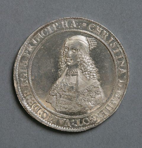 Zviedrijas karalienes Kristīnas (1632–1654) dālderis, 1643. g.