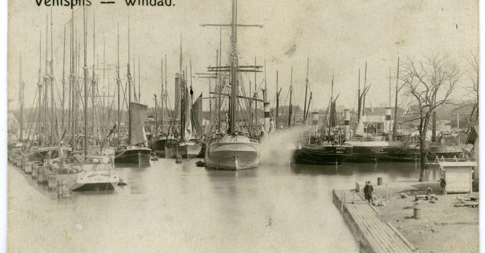 Pastkarte ar Venstpils ostas skatu, 20. gs. sākums