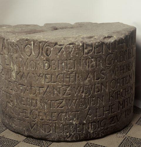 Kauna staba akmens pamatne, 1677. g.