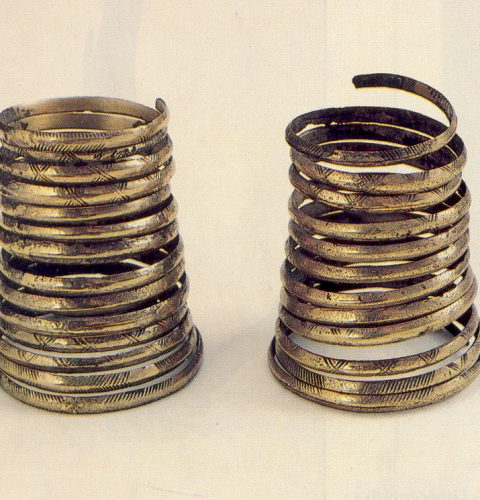 Senlatviešu bronzas spirālaproces. 13. gs. sākums.