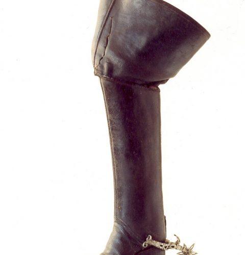 Jātnieka zābaks, ko leģenda piedēvē Zviedrijas karalim Kārlim XII. 18. gs. sāk.