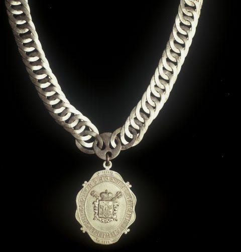 Rīgas valdes locekļa amata ķēde ar žetonu, 19. gs. beigas