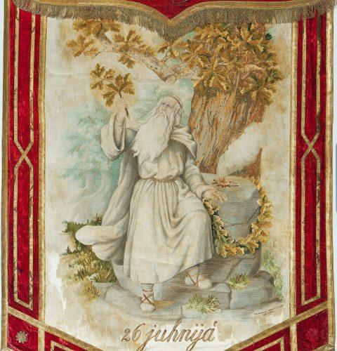 Pirmo Vispārējo latviešu Dziesmu svētku karogs, 1873. g.