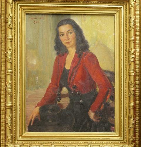 Портрет Марты Алберинги. Художник Харийс Бабинскис. 1956 г.