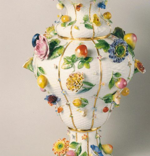 Vase. Meissen, a royal porcelain manufactory, around 1820, made after the model of mid 18th cent.