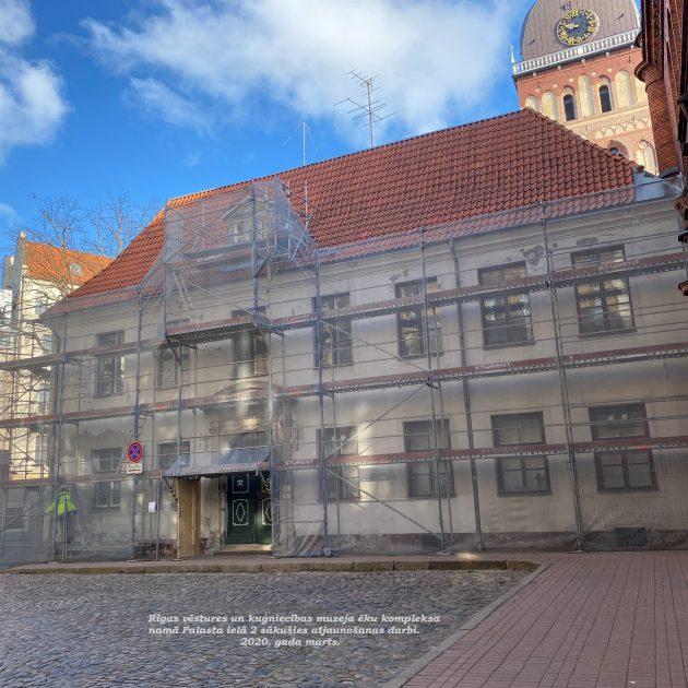 Fasādes restaurācija muzeja kompleksa ēkai Palasta ielā 2