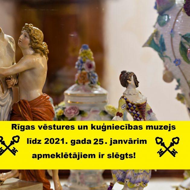 Muzejs līdz 25. janvārim ir slēgts apmeklētājiem.